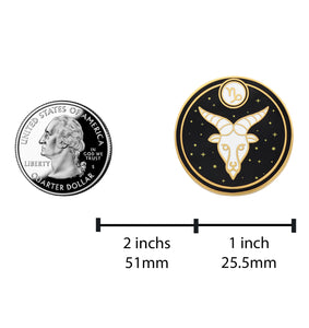 Capricorn Astrological Sign Pin - Star Sign / Astrology Enamel Pins