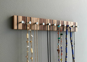 Modern Wood Jewelry Rack