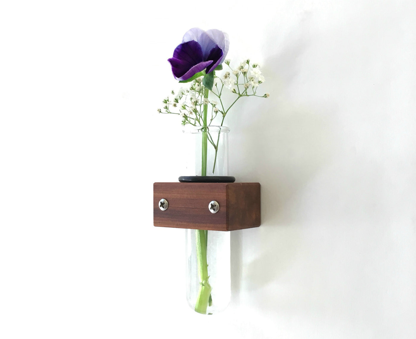 Small Wall Vase, Test Tube Flower Vase