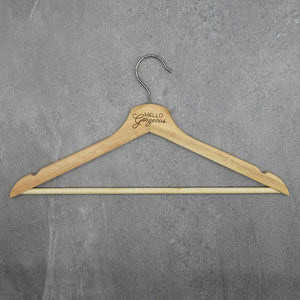 Conversational Wood Hanger - Hello Gorgeous