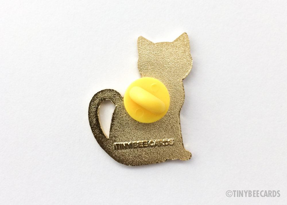"Cat Enamel Pin ""Feline Good"""