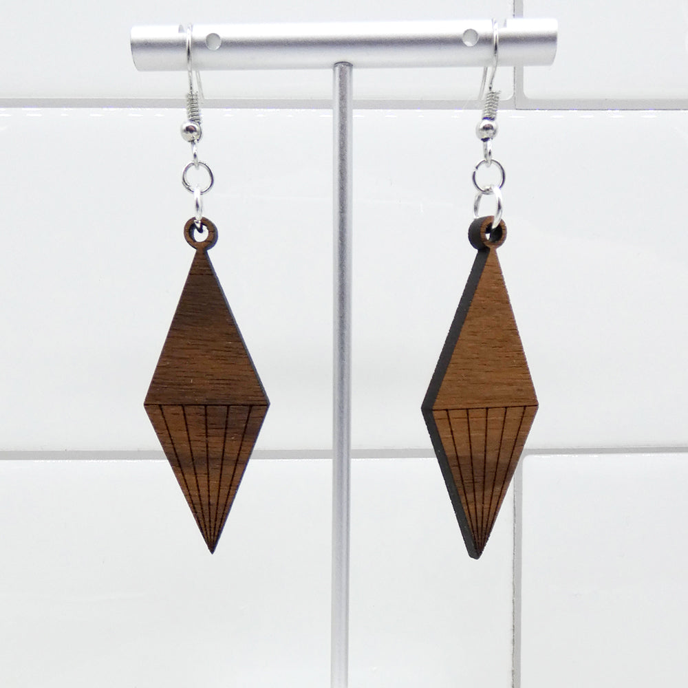 Mid Mod Earrings - Crystal