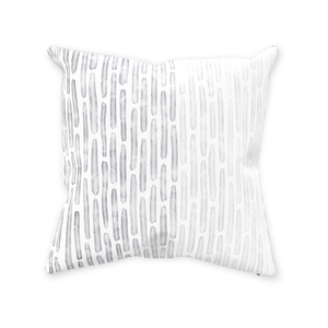 Watercolor Stripes Throw Pillow - Cool Neutral