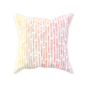 Watercolor Stripes Throw Pillow - Warm