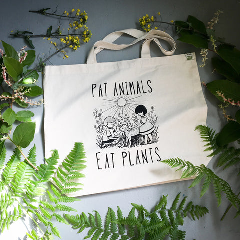 Pat Animals Eat Plants tote