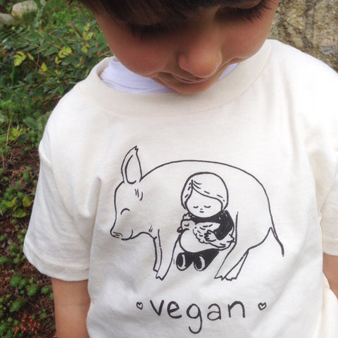 Vegan Snuggle -ECO kids tee