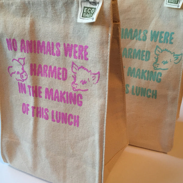No Animals Harmed Recycled Cotton Lunch Bag