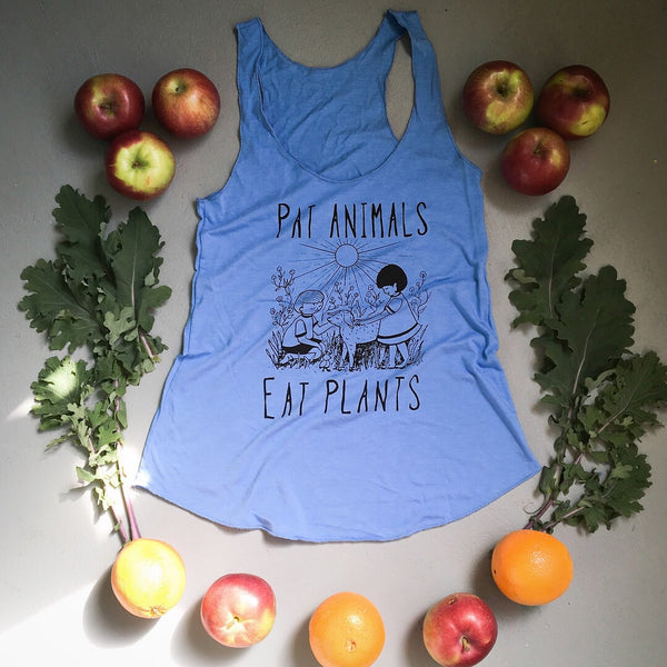 Pat Animals Eat Plants Vegan Eco Womens Tank
