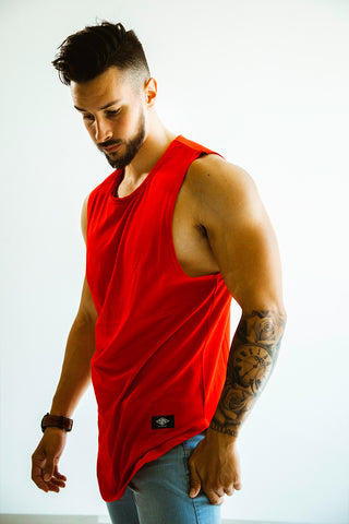 Men's Red Cut Off