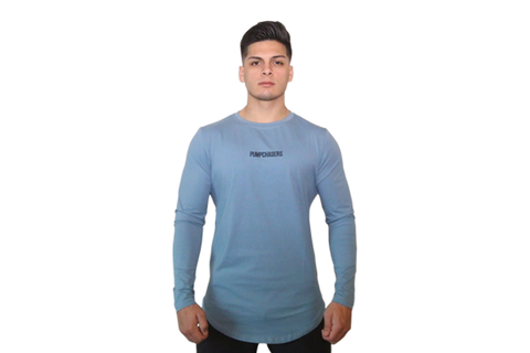Pump Chasers Long Sleeve: Light Blue