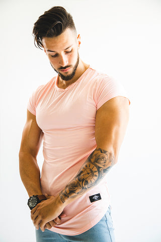 Men's Pink Capped Sleeve