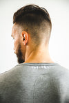 Men's Grey Capped Sleeve