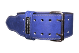 10mm Double Prong Weight Lifting Belt (Color: BLUE)
