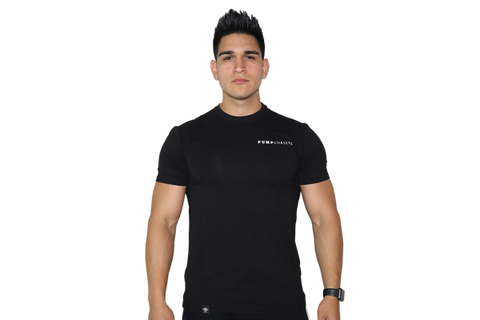 Men's Premium Tee: Black (with White Logo)