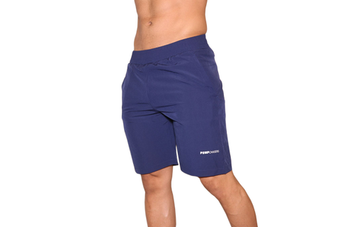 Men's Shorts: Blue (with White Logo)