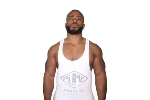 Tapered Waist Stringer: White (with Gray logo) ''Read The Description''