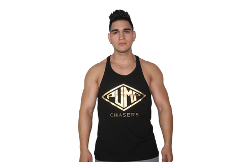 Stringer Tank: BLACK (with Gold logo)