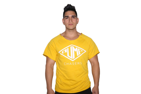 2.0 Rag Top Scoop Neck: Yellow (with WHITE logo)