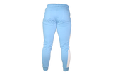 Men's 3D Joggers: Light Blue (with Solid White stripe)