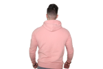 Men's 3D Hoodie: Salmon (with Solid White Stripe)