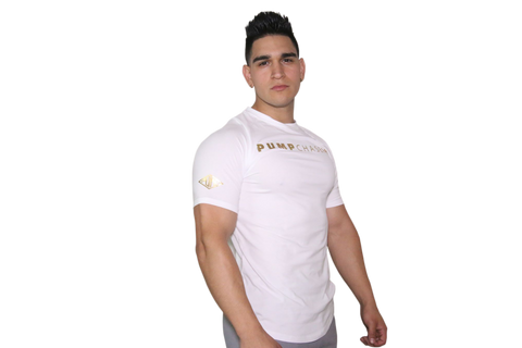 Performance Tee: White (with GOLD Logo)