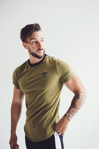 Party In The Back Tee: Army Green