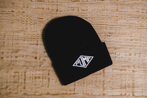 Pump Chasers Beanie: Black with White logo