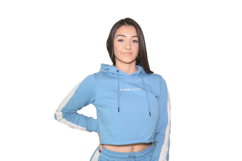WOMENS 3D CROP TOP: BLUE