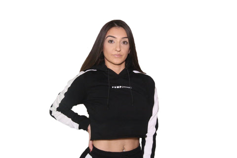 WOMENS 3D CROP TOP: BLACK