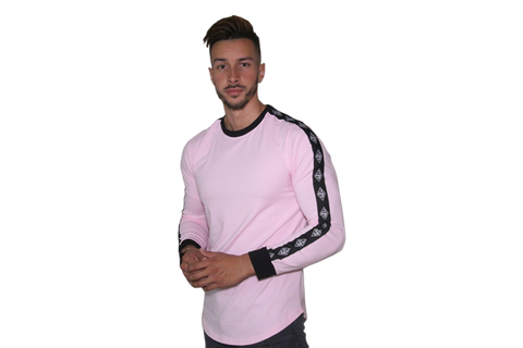 Lifestyle Long Sleeve: Pink (Black Sleeve Logo)
