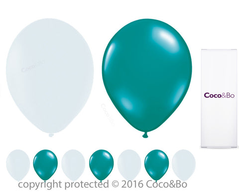 Tiffany Blue & White Party Balloons