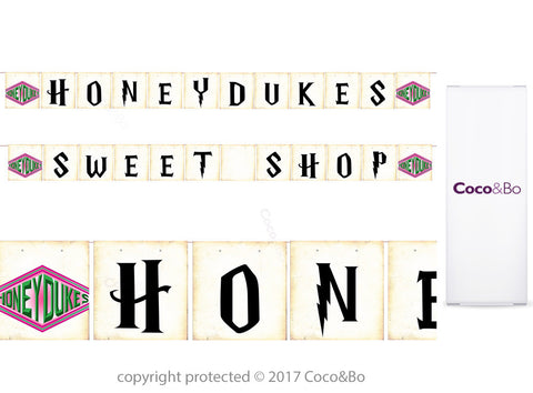 Honeydukes Sweet Shop Bunting 2m - Harry Potter