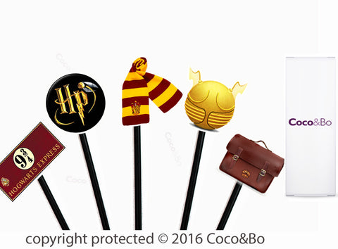 Harry Potter Wizarding Party Cupcake Picks