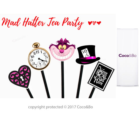 Mad Hatter Tea Party Cupcake Picks