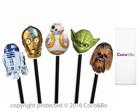 Star Wars Heroes Cupcake Picks