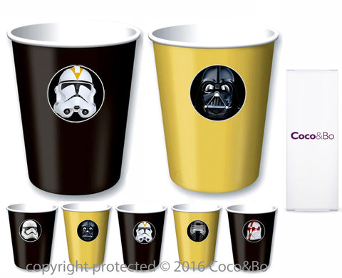 Star Wars Villains Party Cups - Treat Tubs