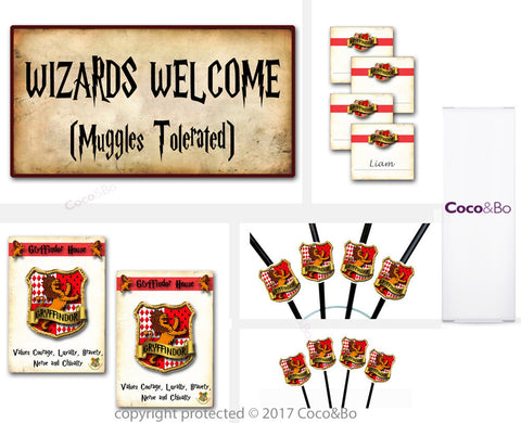 Standard - Gryffindor House - Room Decoration Party Pack