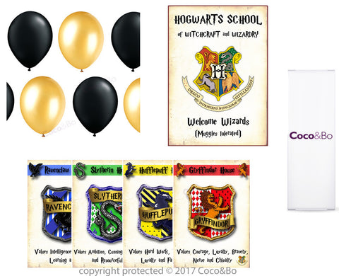 Standard - Hogwarts Houses Room Decoration Party Pack