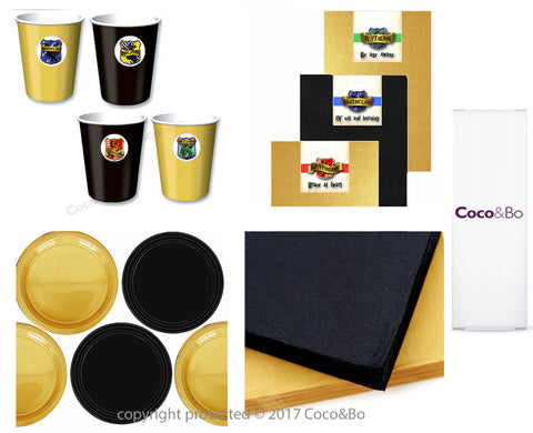 Standard - Hogwarts Houses Standard Tableware Party Pack for 4