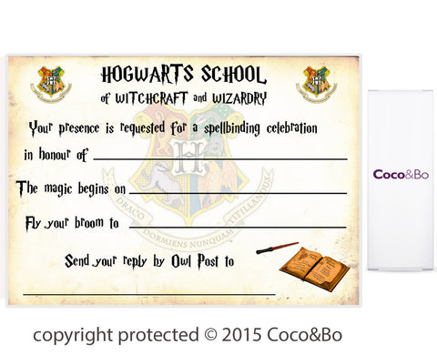 Hogwarts Houses Wizarding Party Invitations