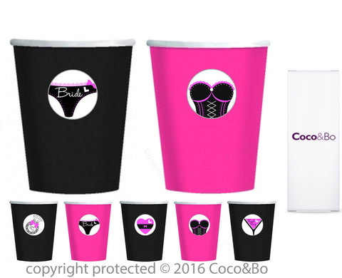Hen Night Party Cups - Treat Tubs