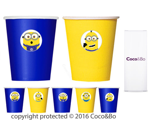 Minion Yellow & Blue Party Cups