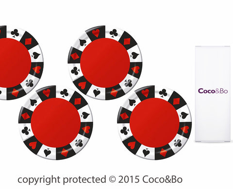 Casino Party Plates