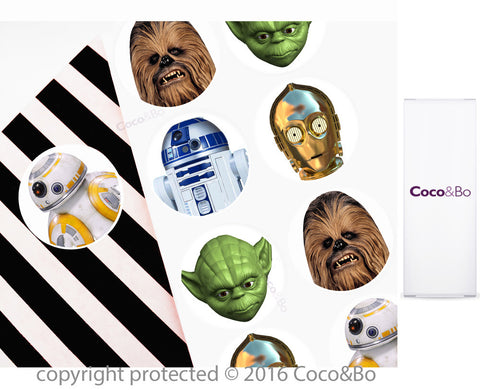 Star Wars Heroes Party Stickers