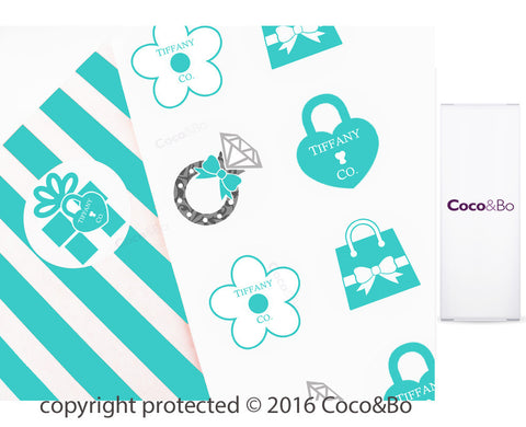 Tiffany Inspired Party Stickers