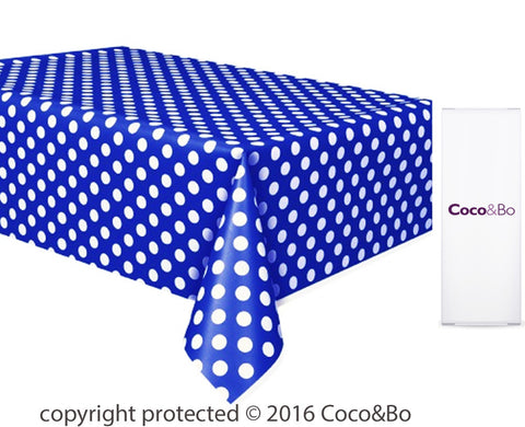 Minions Polka Dot Blue Party Table Cover