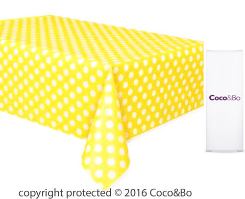 Minions Yellow Polka Dot Party Table Cover