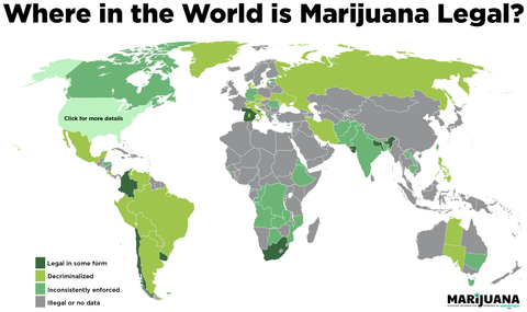 Legal Countries Across The Globe