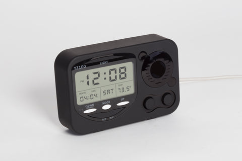 LED alarm clock to hide Dropcam white background front
