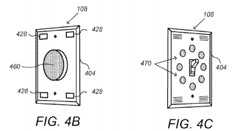 Smart wall switches and smart wall plug Google Nest Dropcam patent